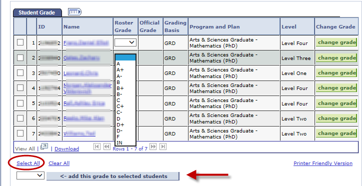Final Grades in SIS - UVA Information Technology Services